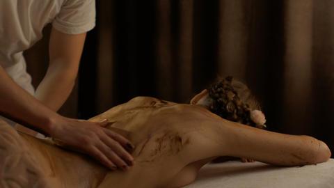 Massage in spa center Footage