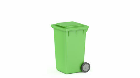 Plastic waste container Animation