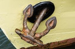 Rusty anchor Fotografía