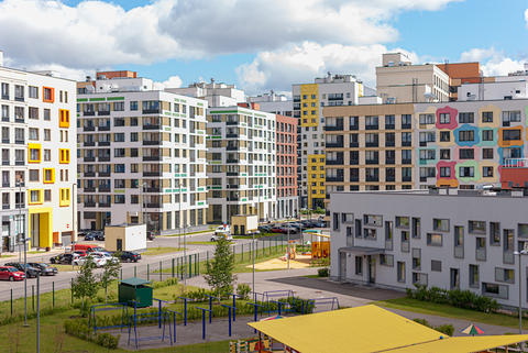 Moscow, Russia. Modern buildings make up the architectural complex of the Photo