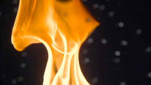 Large flame of fire through water bubbles with a high frame rate Footage