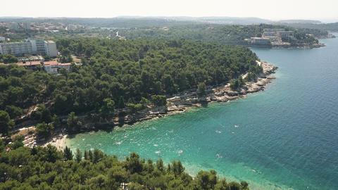 Croatian beach resort in Pula on the Adriatic sea Footage
