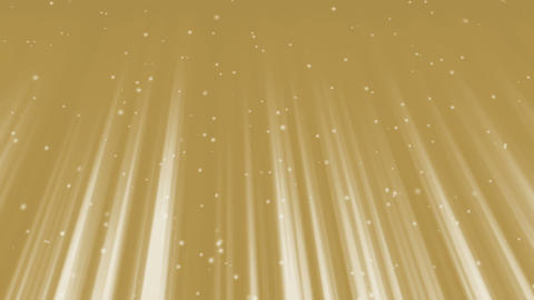 Golden Light Rays and Sparkling Particles GIF