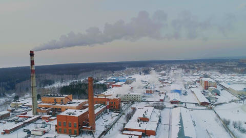 Industrial area top view Footage