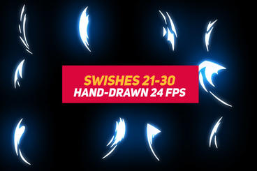 Liquid Elements 2 Swishes 21-30 After Effects Template