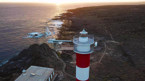 View from the height of the lighthouse Faro de Rasca on The Tenerife, Canary Archivo