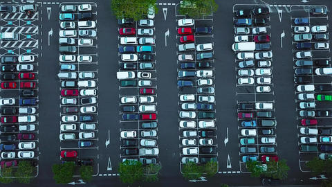 Aerial view of car parking Footage