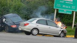 Car on Fire Footage