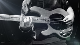 Bass player on stage GIF 動畫