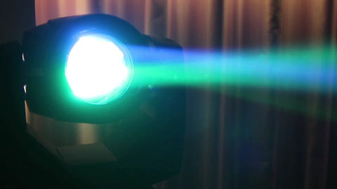 Multicolored Disco Reflector That Glows At A Birthday Party 17 stock footage