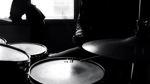 Drummer in studioMVI 5744 Footage