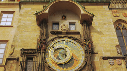 Close-up Shot of the Astronomical Clock in Prague Footage