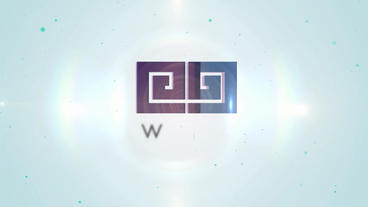 3D Elegant Corporate Rainbow Logo stock footage