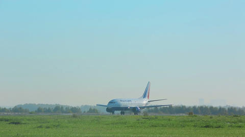 Airplane taxiing before take-off Footage