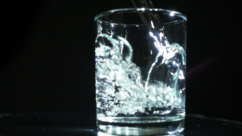 Pouring Water In The Glass Footage