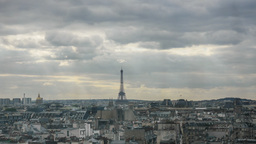 Timelapse of clouds gathering over the Paris Footage