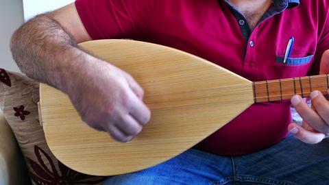 Turkish saz of the musical instrument Footage