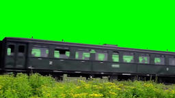 Train green screen effects Footage