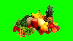 Fruits and vegetables green screen GIF