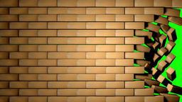 Bricks Wall - Green Screen GIF