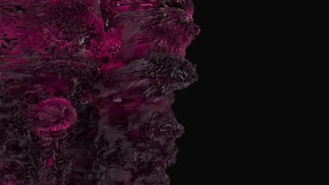 Abstract cubic forms explode across the frame Footage