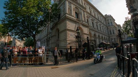 No. 10 Downing Street, London, England, UK Footage