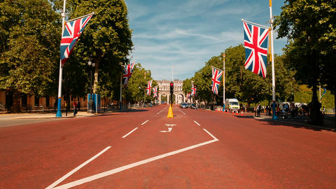 Admiralty Arch in London, England, UK Footage