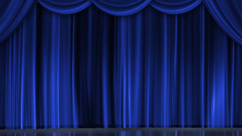 Blue Curtain and Stage Lighting CG動画素材