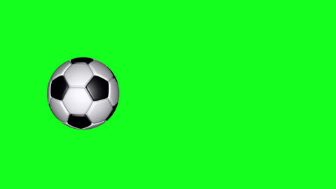 Soccer Ball - Classic - Flying Transition 03 - Green Screen CG動画素材