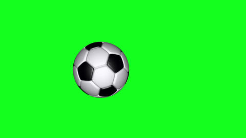 Soccer Ball - Classic - Flying Transition 04 - Green Screen Stock Video Footage