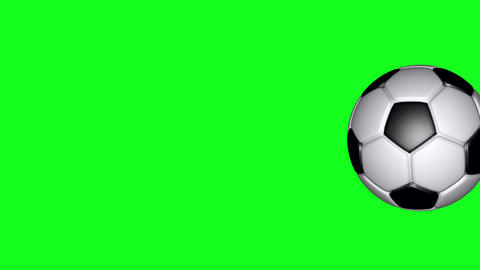 Soccer Ball - Classic - Flying Transition 04 - Green Screen GIF