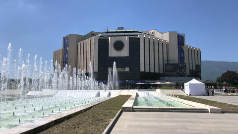 National Palace of Culture building in Sofia Live Action