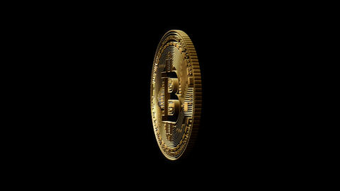 3D Cutout Bitcoin coming and going on alpha background Stock Video Footage