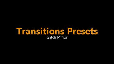 Glitch Mirror Transitions Presets Premiere Pro Template