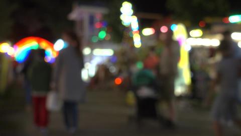 People walking in the night street Footage