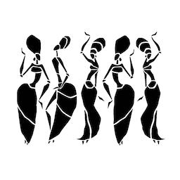 Beautiful dancers silhouette Vector