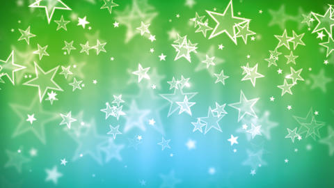 Green Glassy Stars Animation