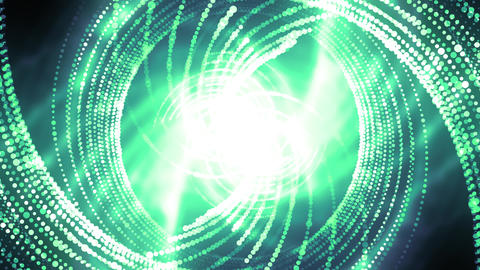 Green Particles Grid Animation