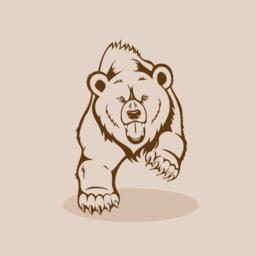 Angry Grizzly Bear ベクター