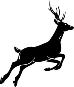 Deer silhouette ベクター