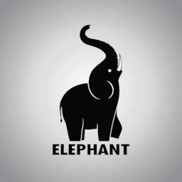 Elephant design on a white background ベクター