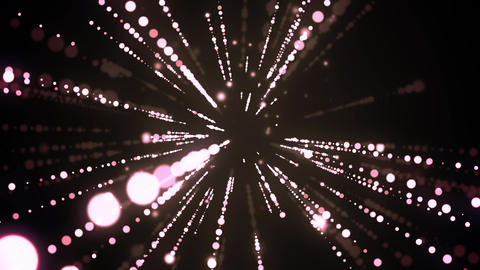 Tunnel Lights Travel Animation