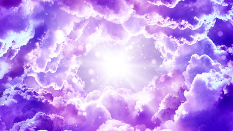 Purple Fantasy Clouds Animation