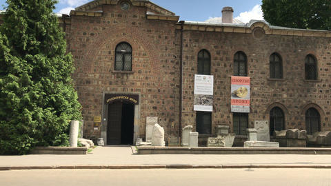 National Archeology Museum in Sofia Stock Video Footage