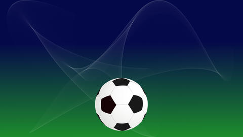 Soccer ball with flying flare from light source Animation