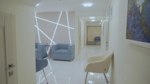Stylish and bright interior in modern clinic ビデオ
