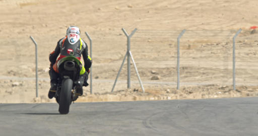 Slow motion of sport motorcycles making turns during a race Footage