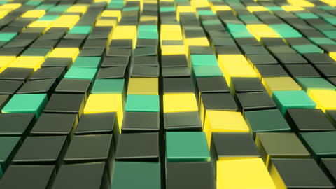 Polygonal cubes. Seamless looping animation Live Action