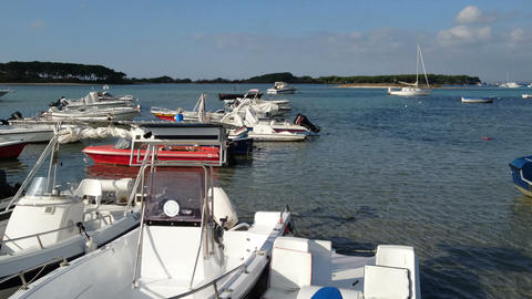 Small boats docked in Porto Cesareo Live Action