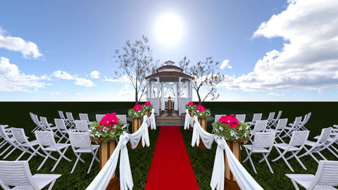 Wedding Ceremony CG動画素材